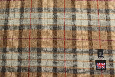 Shetland Tweed Plaid Fabric BZ79